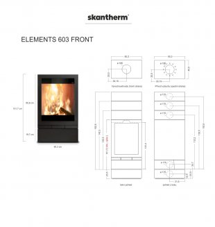 04 - Elements 603 Front - schéma produktu